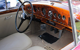 Bentley R Type - Interior of red Continental coupé by H. J. Mulliner above