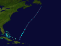 1958 Atlantic tropical storm 12 track.png