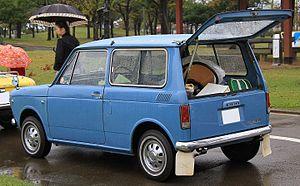 Honda N360 - 1967 Honda LN360 Van, rear view showing split door