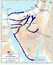 Conquest of Sinai. June 7-June 8, 1967