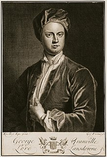 George Granville, 1st Baron Lansdowne 17th/18th-century English poet, playwright, and politician