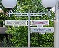 2001-07-09 Straßenschild am Bundeskanzlerplatz, Bonn-Gronau 07090002.jpg