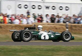 Brabham BT24 - a Brabham BT24 in action during the 2006 Goodwood Festival of Speed
