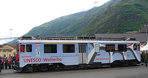 Rhaetian Railway ABe 4/4 III - Unveiling of the special livery of ABe 4/4 51 in Tirano on 5 May 2007.