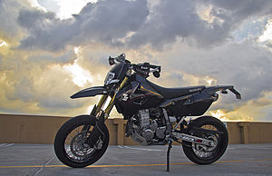 Supermoto - A modified street legal 2007 Suzuki DRZ-400SM supermoto