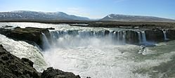 The colossal Goðafoss Waterfall