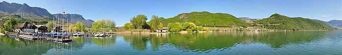 Panorama sul lago dalla località di Castelvecchio.
