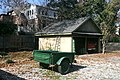 2011-11-20 Green metal trailer in back yard.jpg