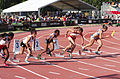 2013 IPC Athletics World Championships - 26072013 - Y. Castillo of Cuba, D. Tanrikulu of Turkey, A. Johannes of Namibia, K. Piekart of Poland and T. Jakschova of Czech Republic during the Women's 100m - T46 second semifinal.jpg