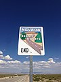 2014-08-09 15 20 30 End Nevada Scenic Byways sign along eastbound U.S. Routes 6 and 50 about 99.8 miles east of the Nye County line in White Pine County, Nevada.JPG