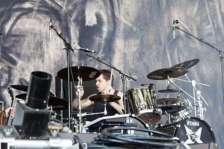Drummer Eloy Casagrande at Nova Rock Festival 2014. Casagrande has been the drummer of Sepultura since 2011. 20140613-001-Nova Rock 2014-Sepultura-Eloy Casagrande.JPG