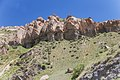 2014 Prowincja Sjunik, Formacje skalne widziane na drodze do wodospadu Szaki (01).jpg