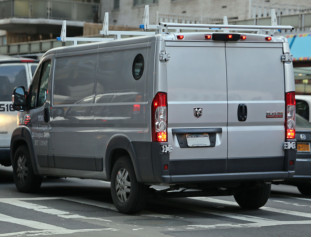 File:2014 Ram ProMaster van, rear left NYC.jpg - Wikimedia ...