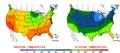 2015-10-10 Color Max-min Temperature Map NOAA.png