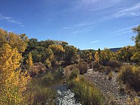 2015-10-30 13 07 51 View south up the Carson River from Nevada State Route 822 (Dayton Valley Road) in Dayton, Nevada.jpg