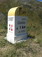 2015 Mountain pass cycling milestone - Glandon from La Chambre.jpg