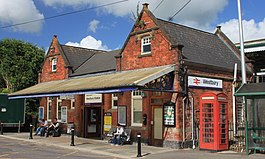 2015 at Westbury station - ticket office from approach road.JPG