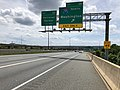 2019-05-27 14 00 47 View south along the inner loop of the Capital Beltway (Interstate 95 and Interstate 495) at Exit 2B (Interstate 295 North, Washington) near National Harbor in Prince George's County, Maryland.jpg