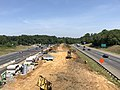 2019-06-24 11 23 47 View north along Interstate 95 and U.S. Route 17 from the overpass for Fall Hill Avenue in Fredericksburg, Virginia.jpg