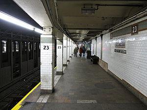 23rd Street (IRT Lexington Avenue Line) - Uptown platform
