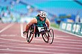 281000 - Athletics wheelchair racing Louise Sauvage action 3 - 3b - 2000 Sydney race photo.jpg