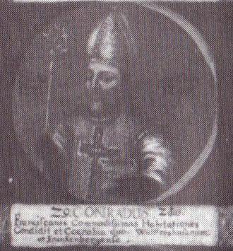 Conrad II (bishop of Hildesheim) - Portrait on a late 18th-century medallion
