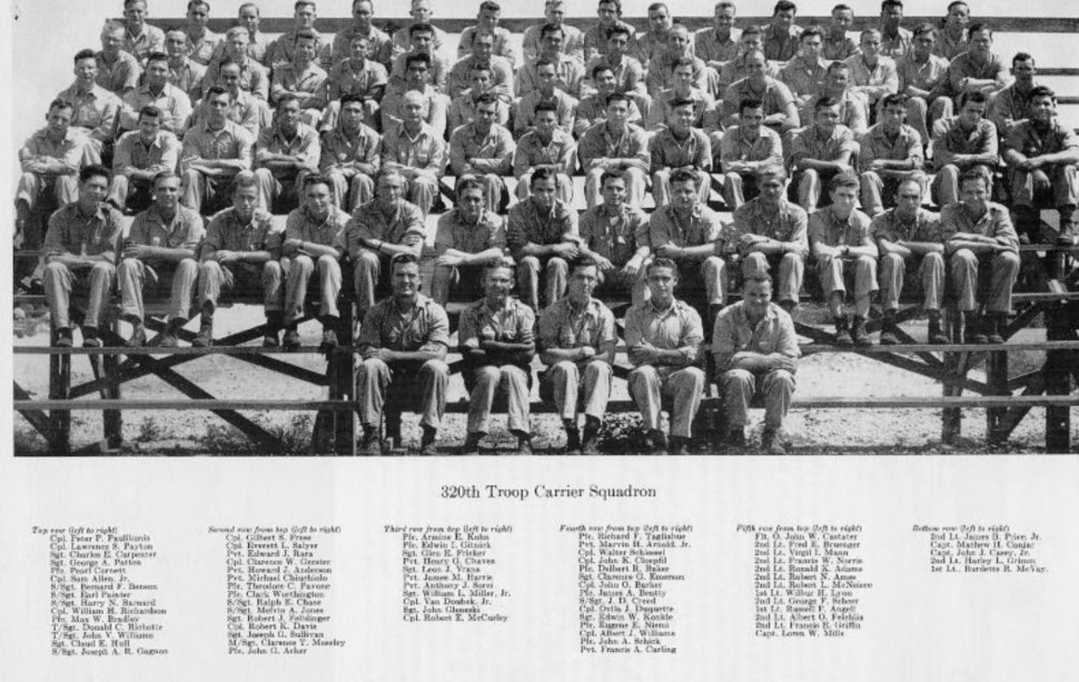 320th Troop Carrier Squadron - Group Photo 2