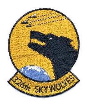 326th Fighter-Interceptor Squadron - Image: 326th Fighter Interceptor Squadron Emblem