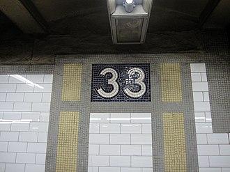 33rd Street (IRT Lexington Avenue Line) - Image: 33rd Street IRT 001