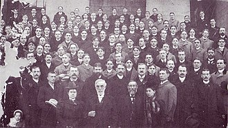 Phi Delta Theta - 50th Anniversary of Phi Delta Theta with Founders Morrison and Lindley in the fore front. From the 1898 Convention.