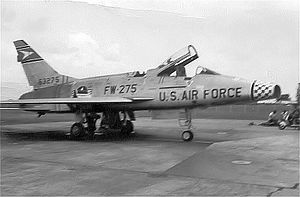 511th Tactical Fighter Squadron - 511th FDS F-100D Super Sabre 56-3275 about 1957