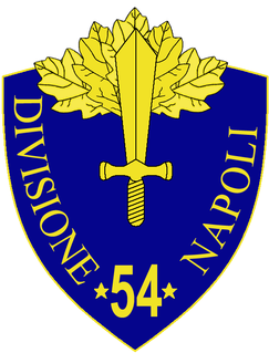 54th Infantry Division Napoli Italian division of World War II