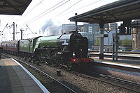 60163 Tornado Private Charter Cathedrals Express Top Gear Race 25 April 2009 Newcastle pic 1.jpg
