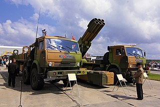 9A52-4 Tornado Multiple rocket launcher