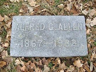 Alfred G. Allen - Image: A. G. Allen