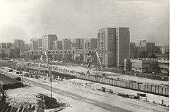 A5 Ursynów - budowa stacji, 1986-04