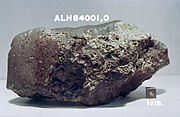 Antarctic meteorite, named ALH84001, from Mars.