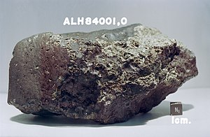 Water on Mars - Mars meteorite ALH84001