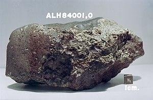 Allan Hills 84001 - Meteorite fragment ALH84001