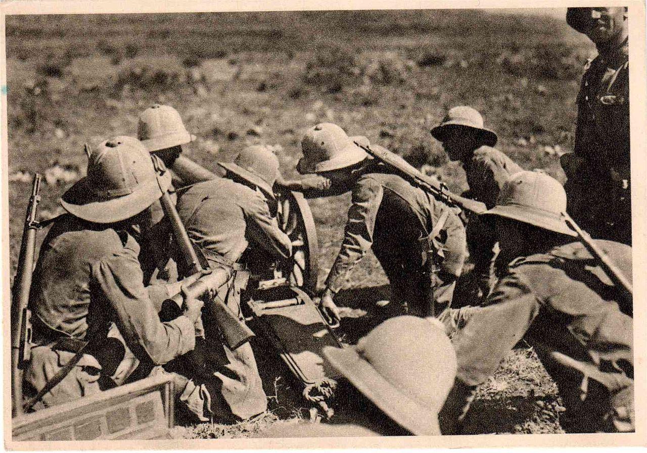 tropas italianas en Etiopía