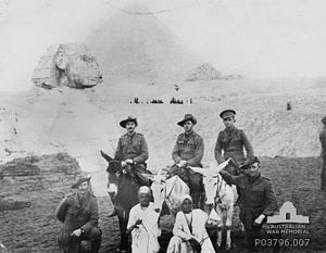 2nd Battalion (Australia) - Officers from the 2nd Battalion at Giza, December 1914