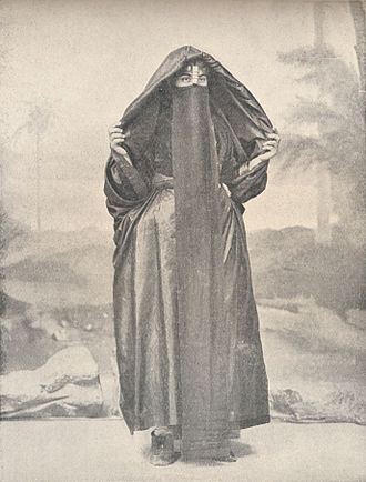 Christian headcovering - Coptic woman wearing a veil (1918).