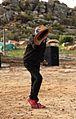 A Nuwe Graskoue Trapper doing the riel dance.jpg