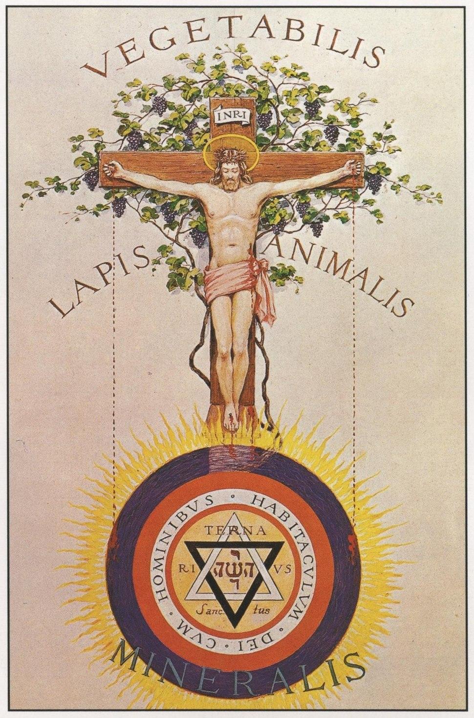 A Rosicrucian Crucifixion by John Augustus Knapp
