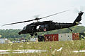 A U.S. Army HH-60M Black Hawk helicopter assigned to the 1st Battalion, 214th Aviation Regiment takes off on a simulated medical evacuation in support of exercise Vibrant Response 13 at Contingency Operating 120730-F-HS649-140.jpg