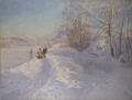 A Winter Morning after a Snowfall in Dalarna (Anshelm Schultzberg) - Nationalmuseum - 18455.tif