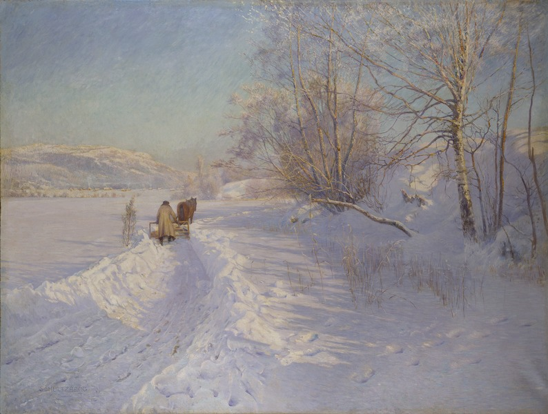 A Winter Morning after a Snowfall in Dalarna (Anshelm Schultzberg)