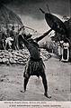 A Zulu medicine man or shaman performing a ritual to fend of Wellcome V0015947EL.jpg