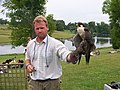 A falconer and falcon at Leeds Castle - geograph.org.uk - 1609607.jpg
