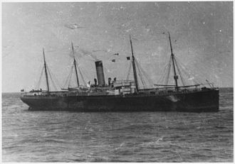 A photograph of the CALIFORNIAN which may have been taken from the deck of the CARPATHIA. The CALIFORNIAN joined the... - NARA - 278339.jpg
